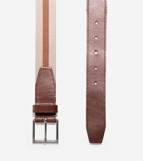 35mm Webbing Leather Belt
