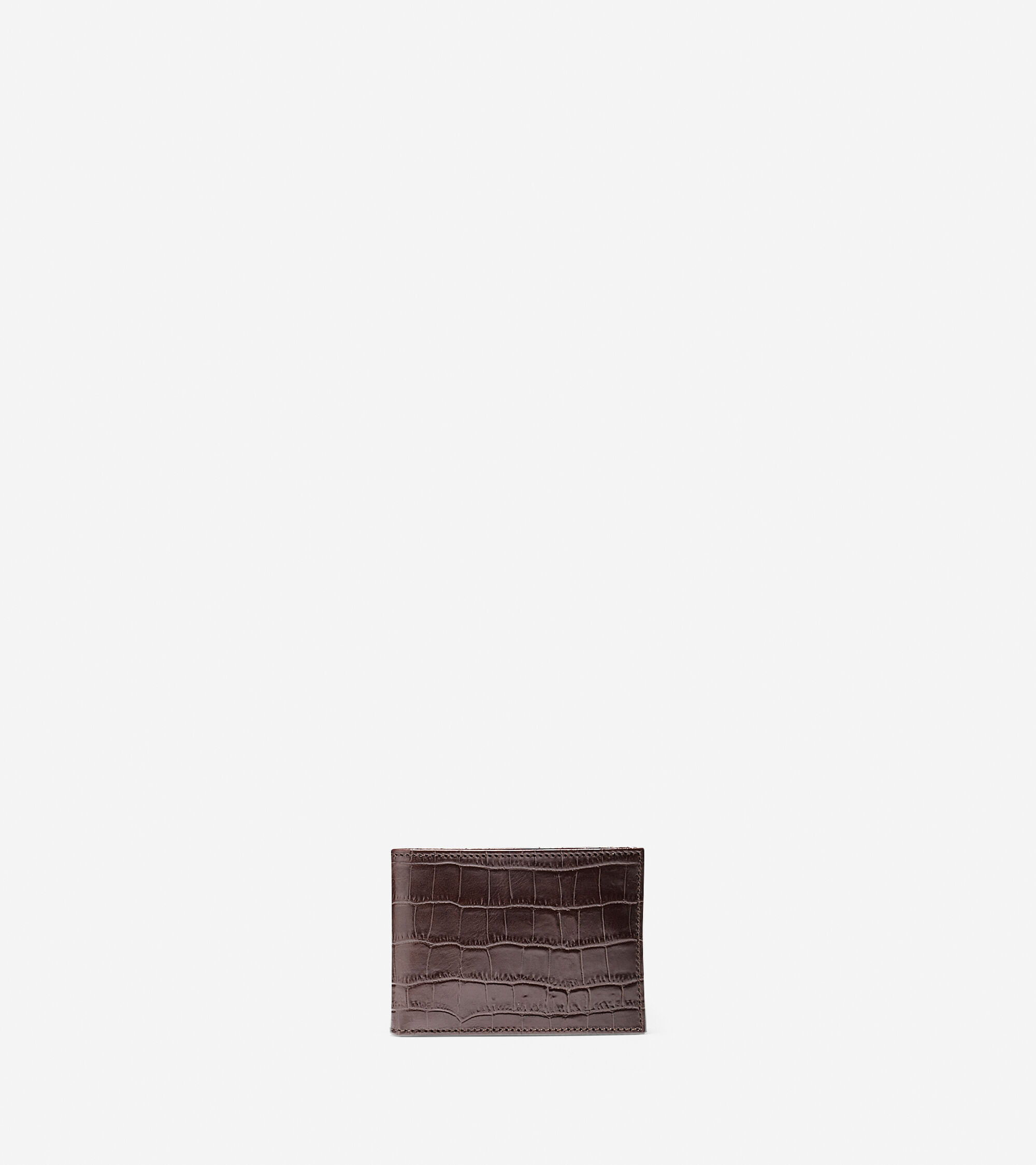 Accessories > Embossed Croc Slim Billfold Wallet