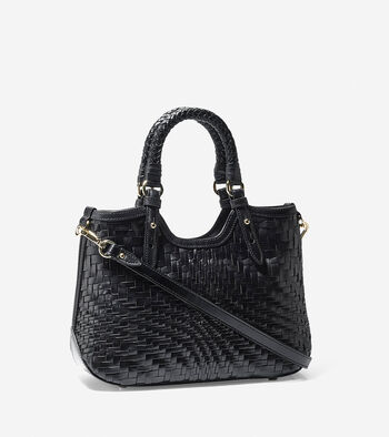 Genevieve Weave Mini Triangle Tote