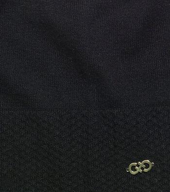 Cashmere Blend Tuck Stitch Cuff Slouchy Beanie