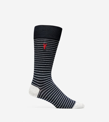Pinch Pin Stripe Crew Sock