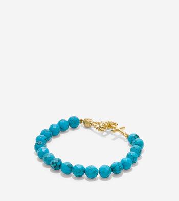 By The Sea Semi-Precious Beaded Anchor Bracelet