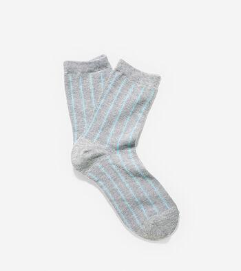 Mesh Vertical Stripe Anklet