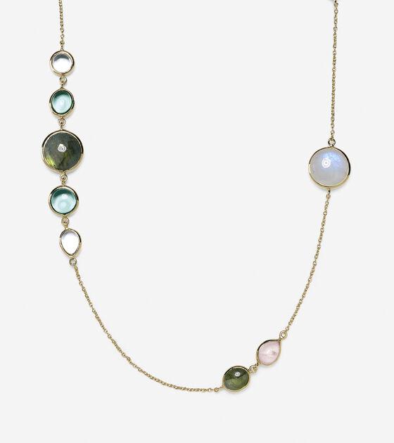 Semi-Precious Station Necklace