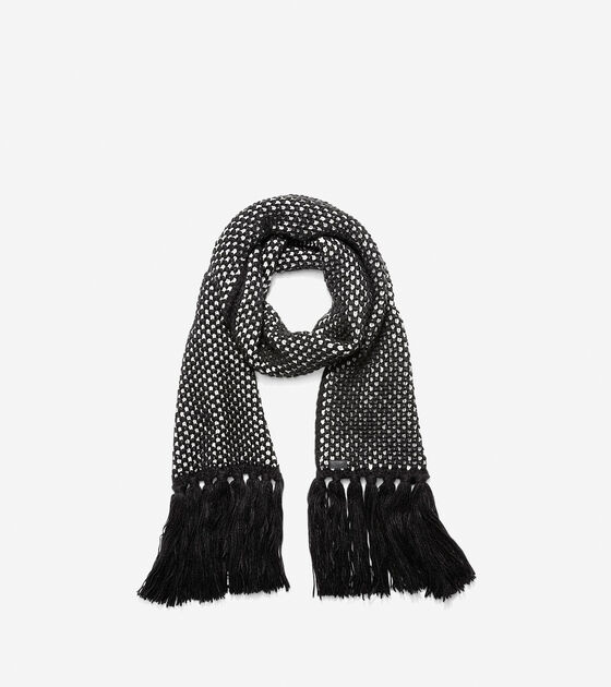 Accessories > Chessboard Tuck Stitch Muffler Scarf