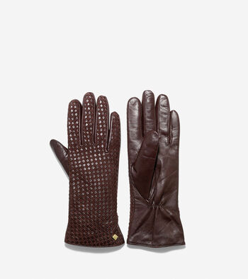 Lambskin Braided Leather Gloves