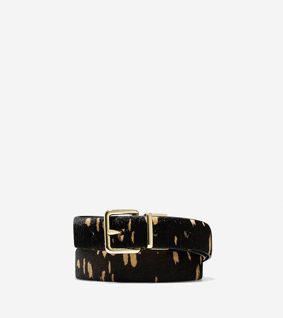 Accessories > Reversible Haircalf-Leather Belt