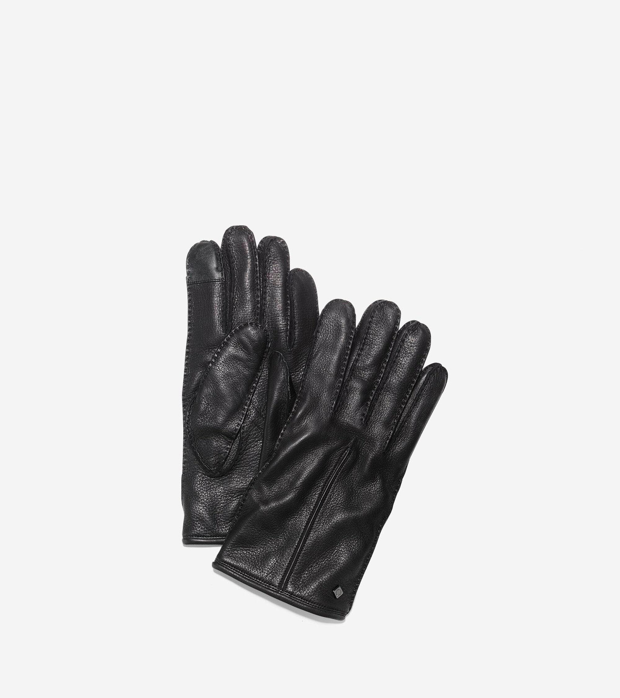Scarves & Gloves > Men's Handsewn Deerskin Leather Gloves