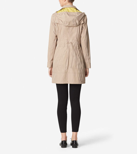 Double Faced Travel Packable Rain Jacket