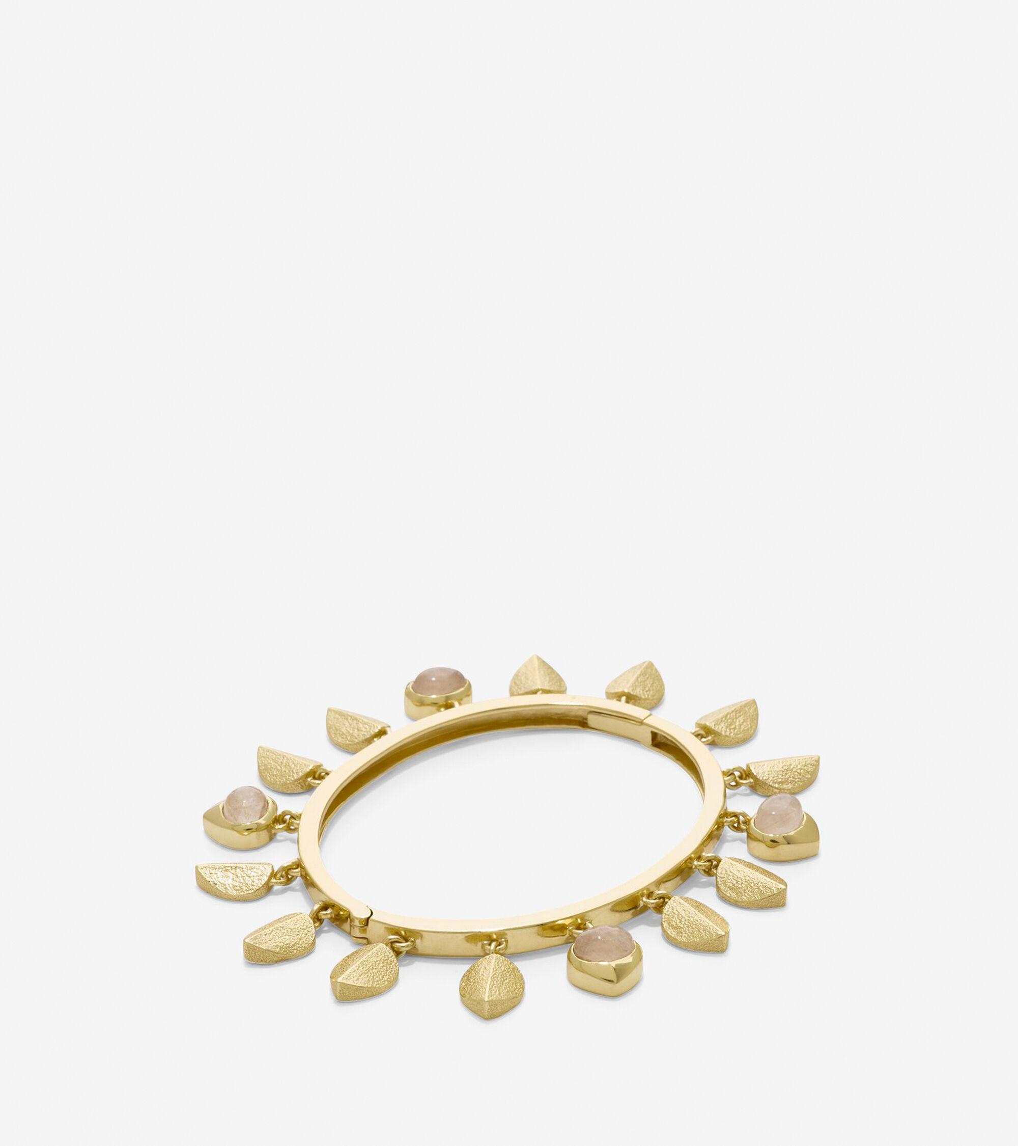Accessories > Sandy Shores Shaky Metal Semi-Precious Stone Bangle
