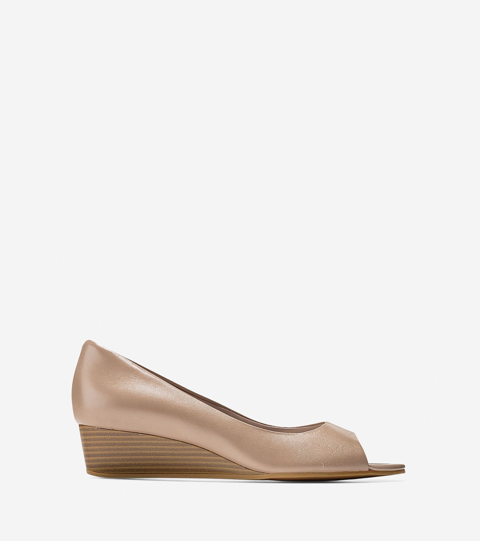 Womens Shoes Cole Haan Elsie Open Toe Wedge II Maple Sugar