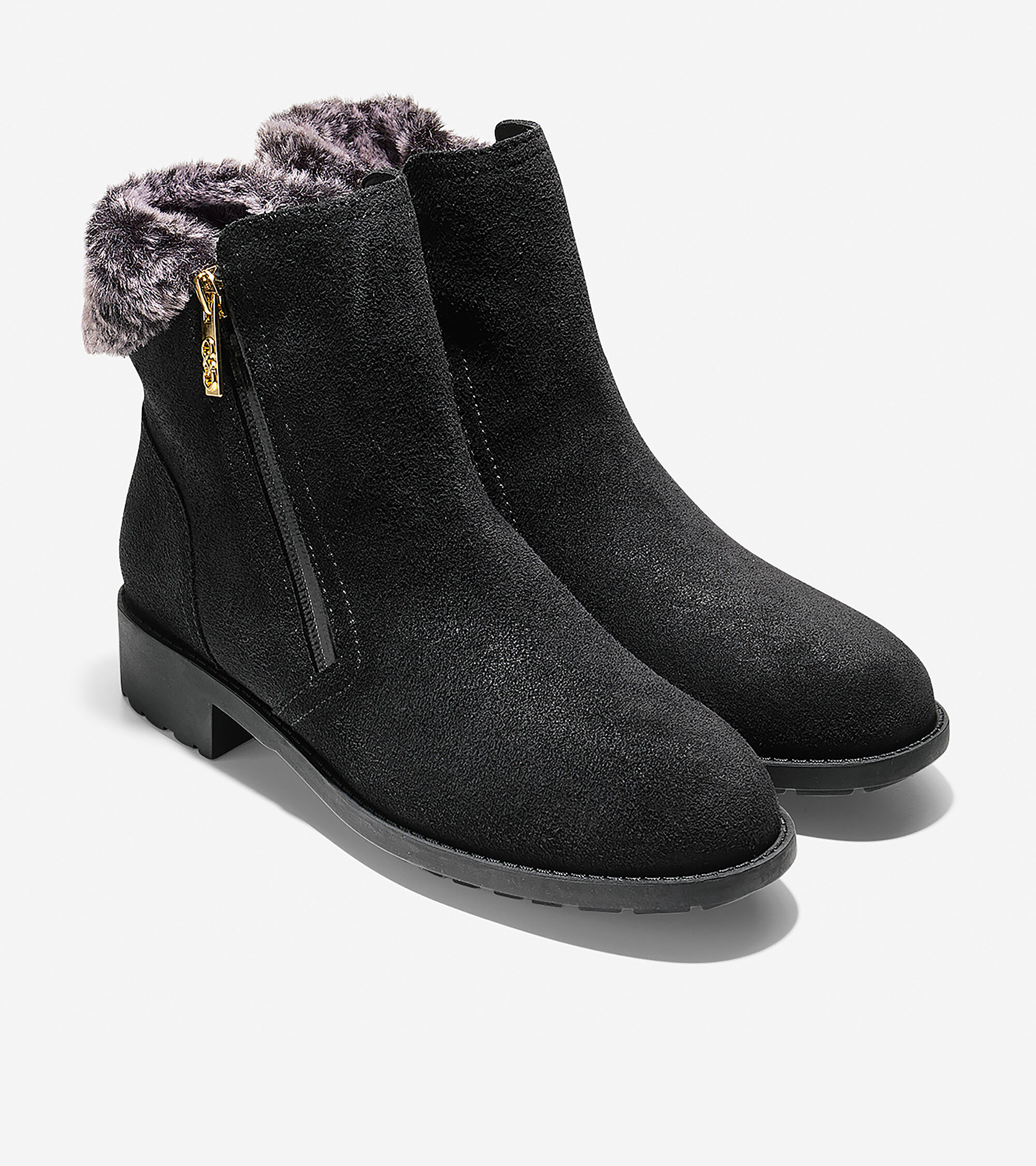 Cole Haan Women's Quinney Waterproof Bootie With Faux Shearling Trim oSG633Pzg