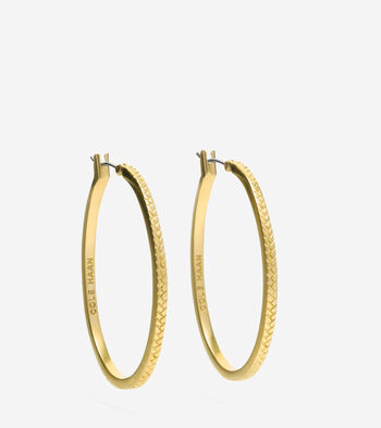 Tali Basket Weave Hoop Earrings