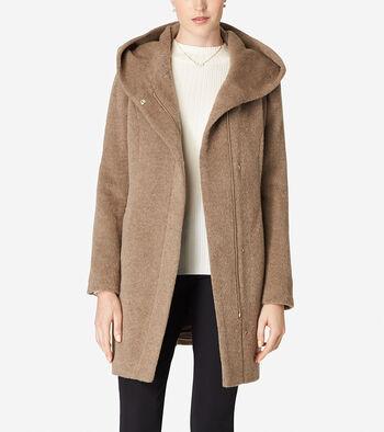 Hooded Italian Alpaca Coat