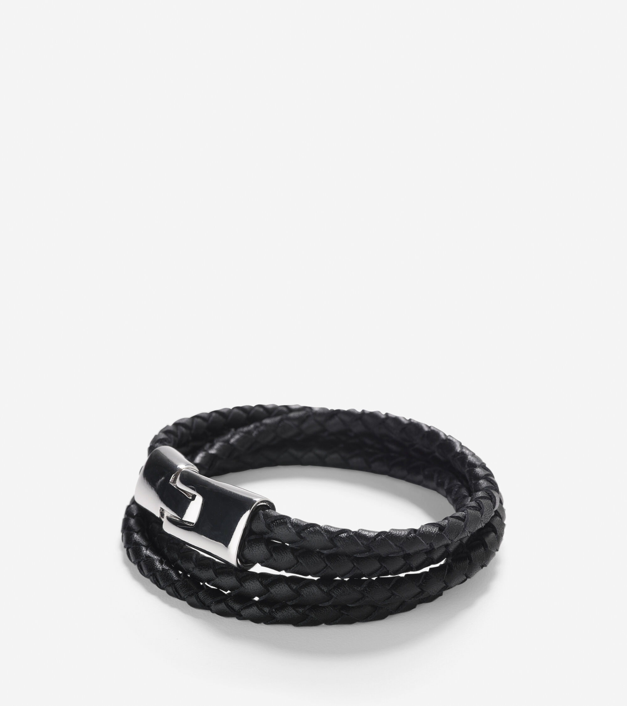 Accessories > Braided Leather Strap Bracelet With Magnet Closure