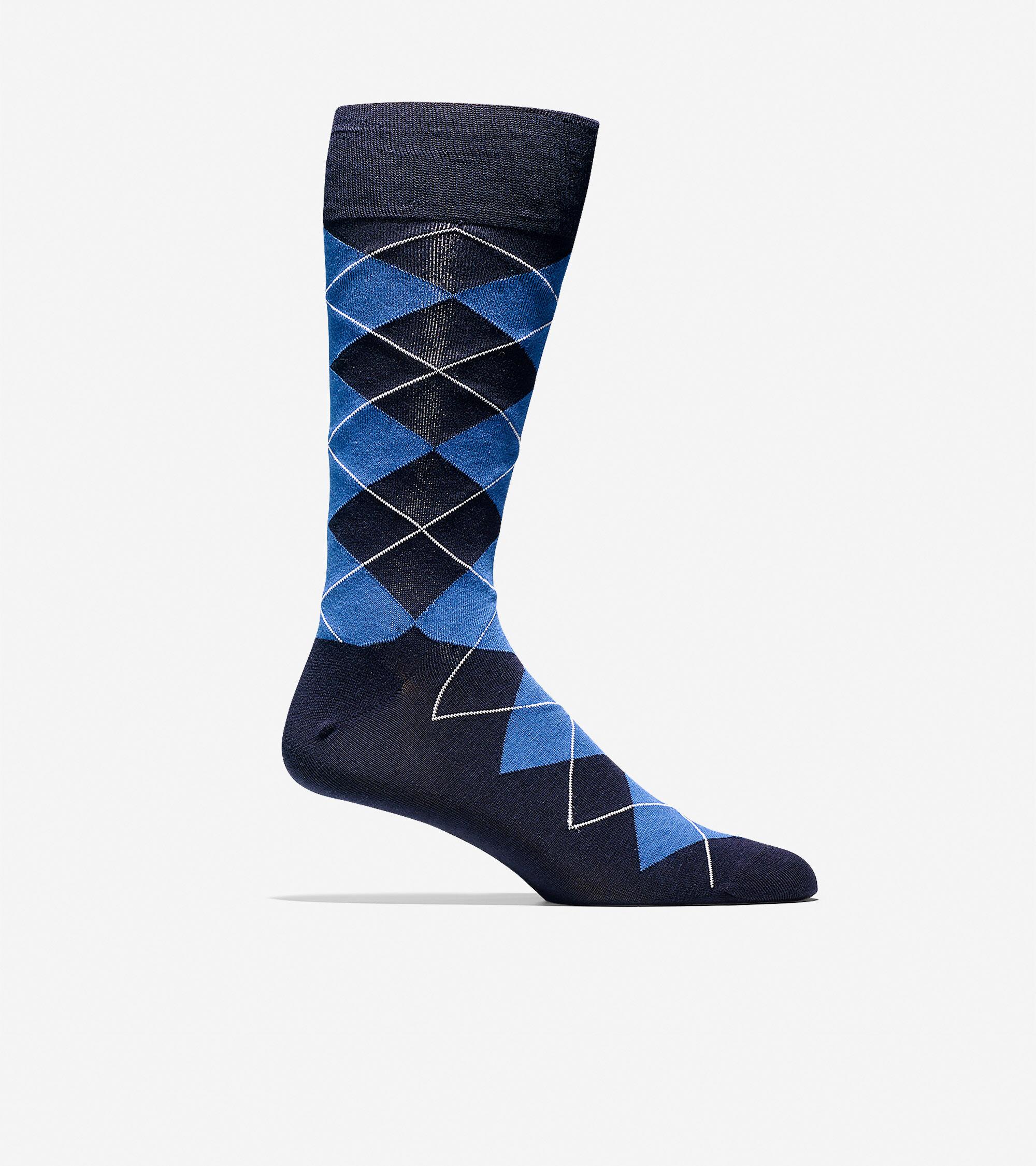 Cole Haan Mens Classic Argyle Socks
