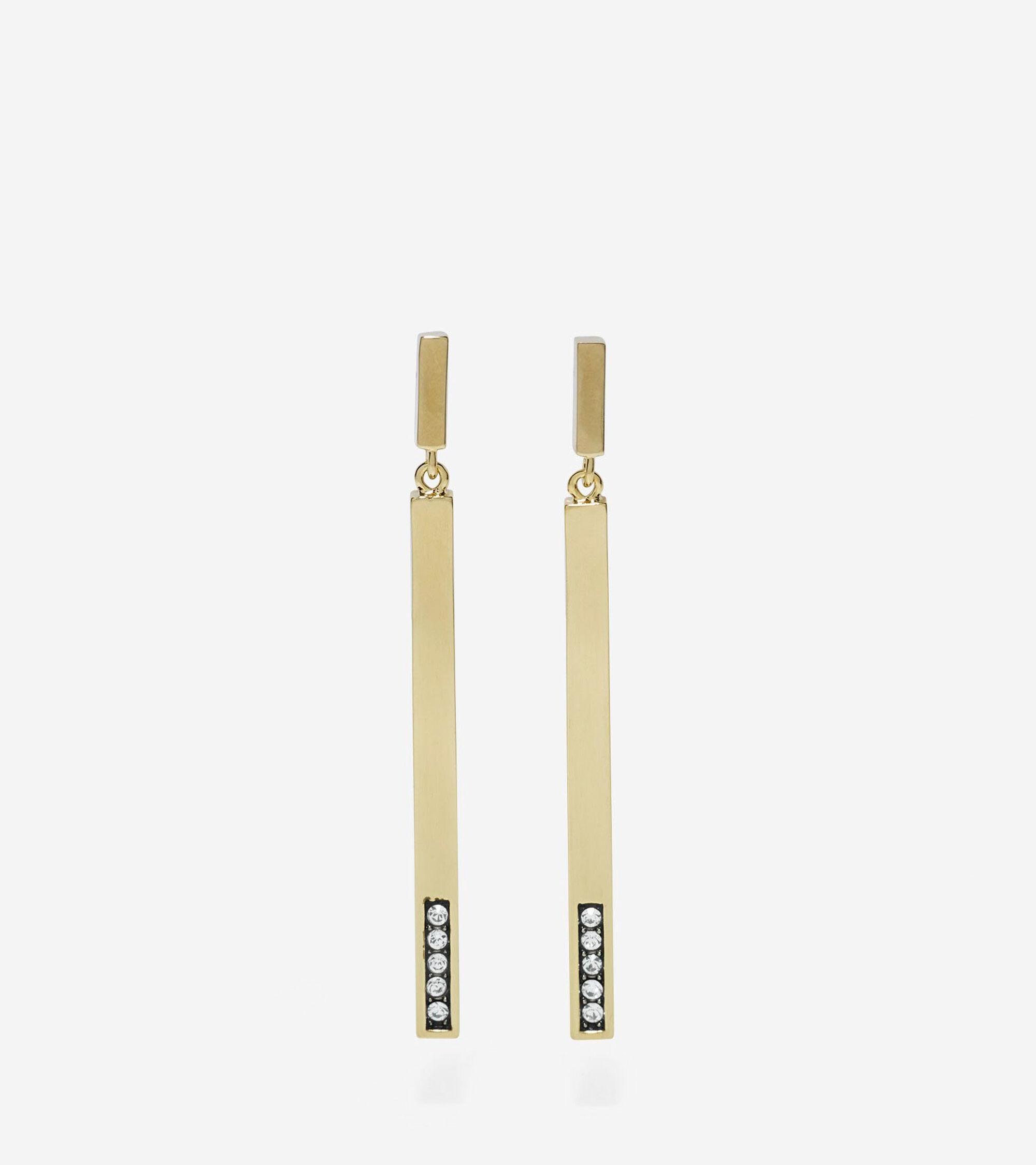 Jewelry > Stick Pave Swarovski Linear Earrings