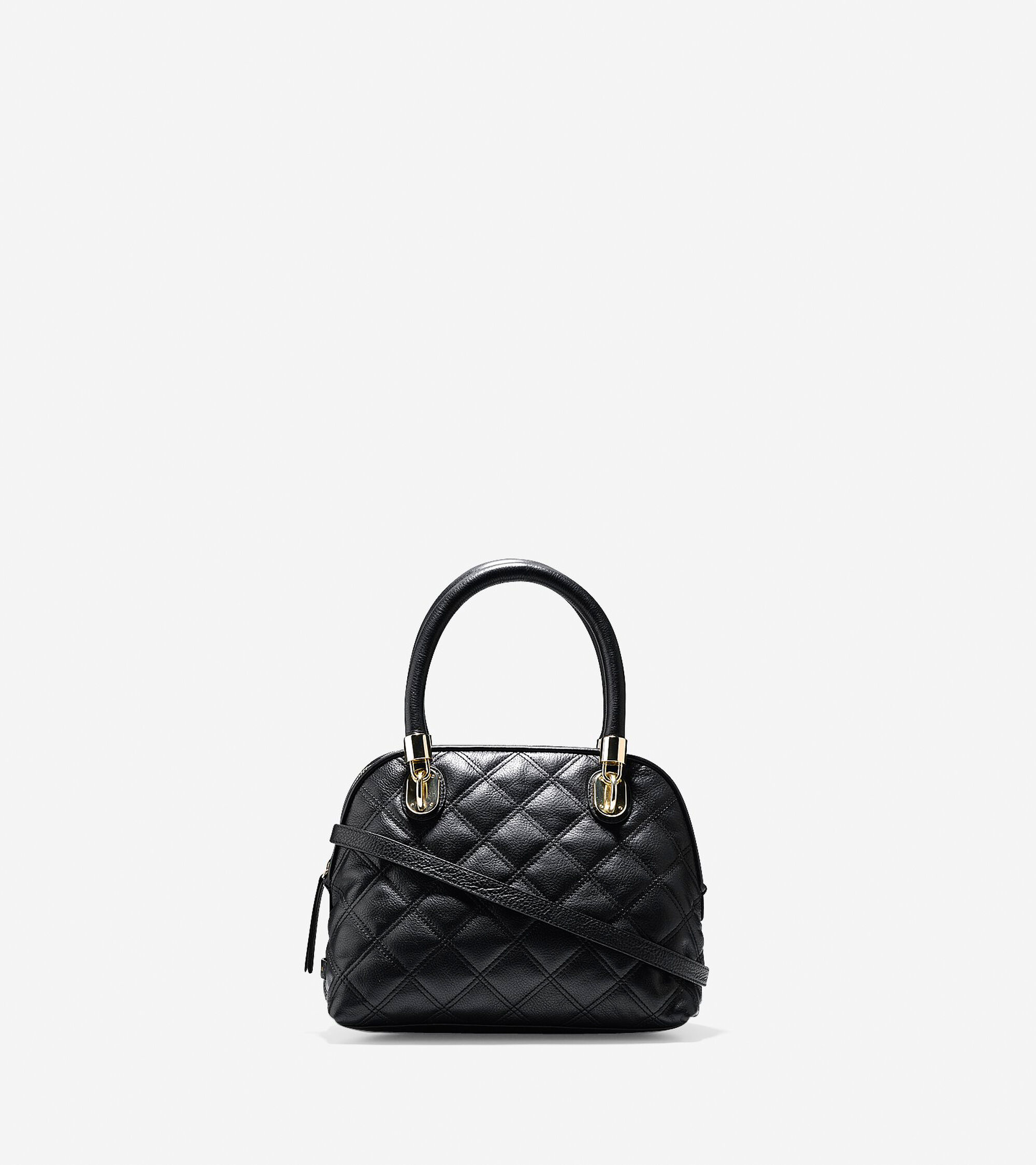 Handbags > Benson Quilted Small Dome Satchel