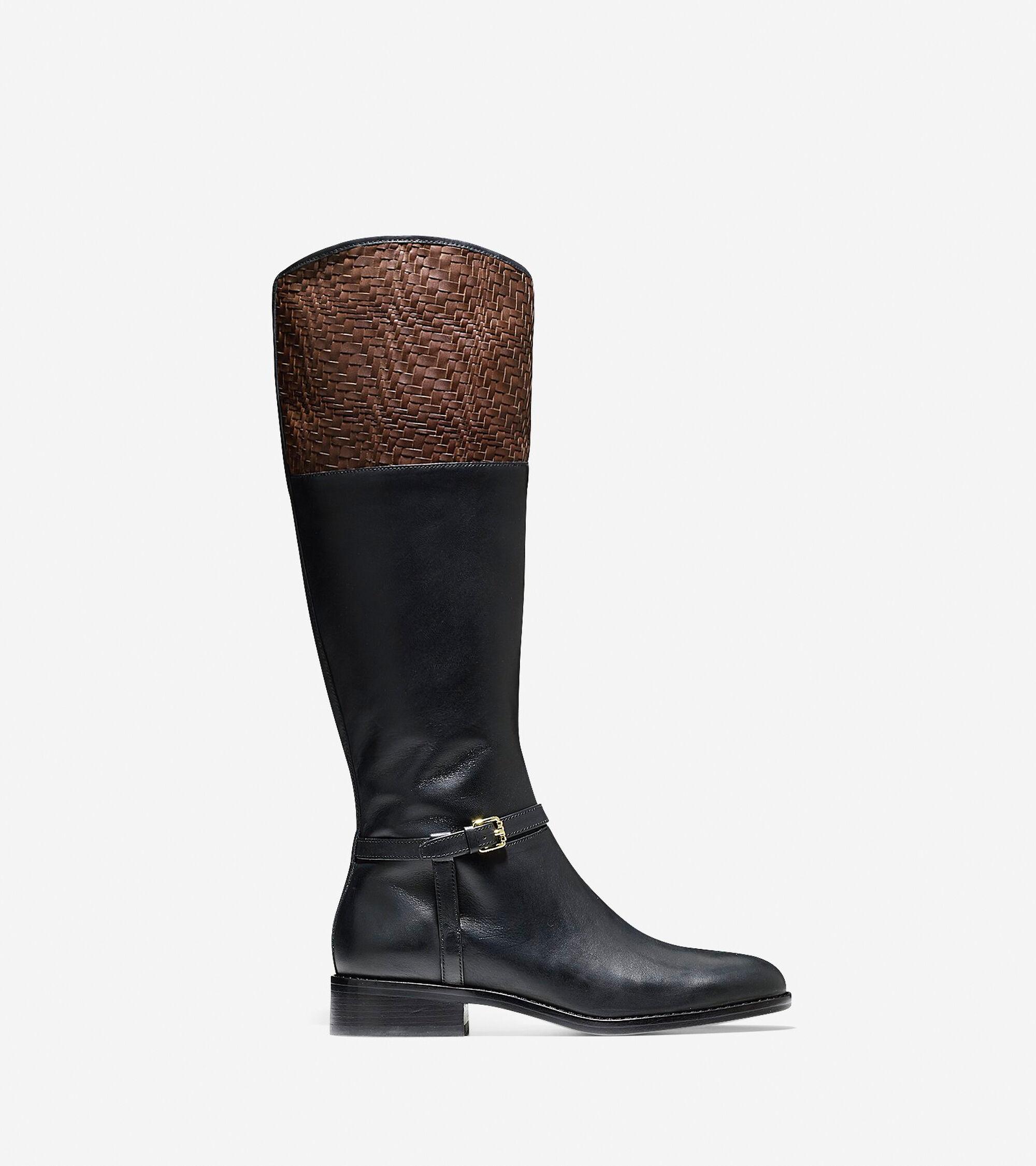 Cole Haan Womens Genevieve Weave Boot