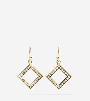 Shimmer On The Ocean Swarovski Open Diamond Drop Earring