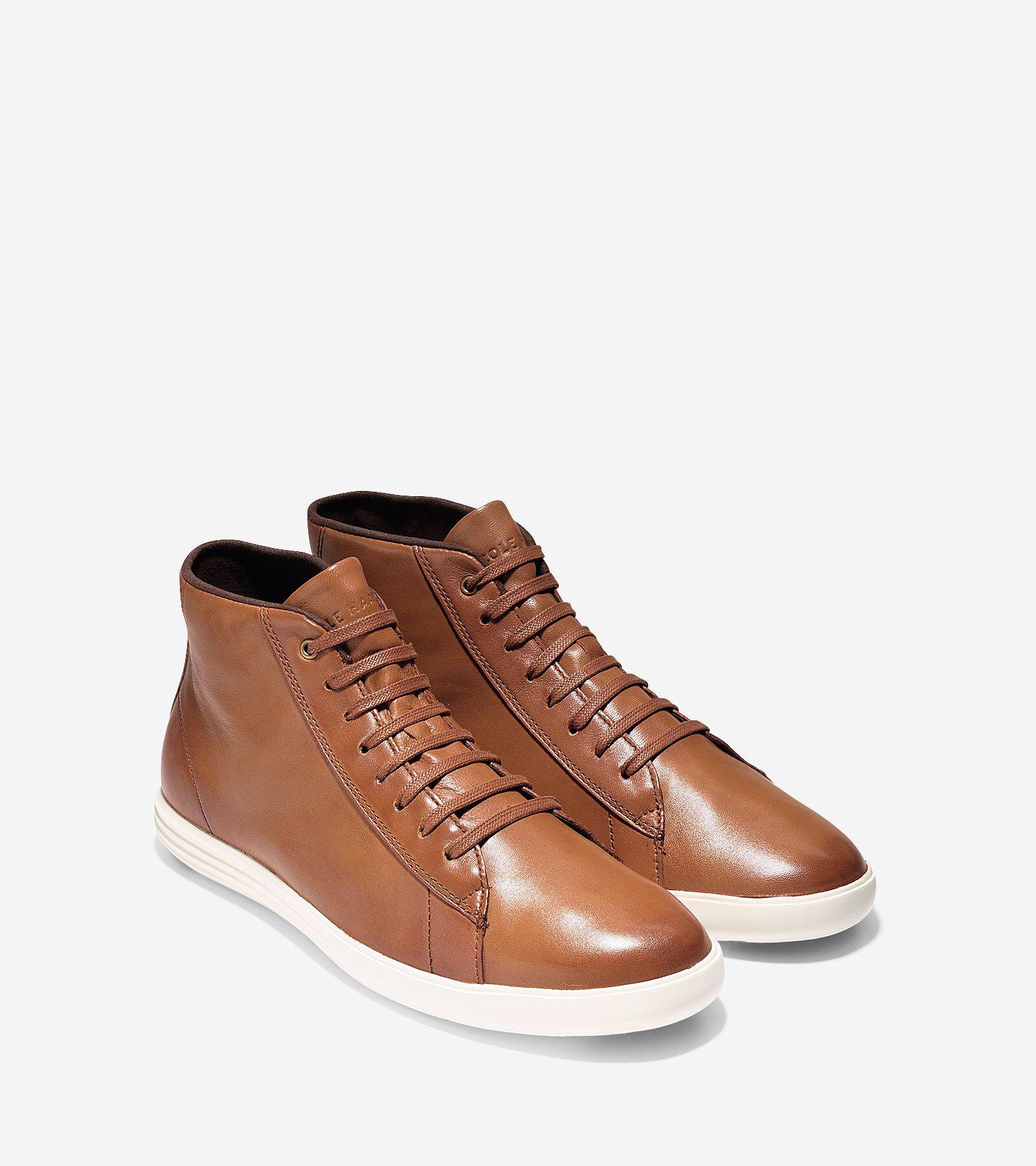 Cole Haan Grand Crosscourt High Top Sneaker aquql