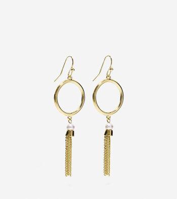 Adair Round Fringe Drop Earrings