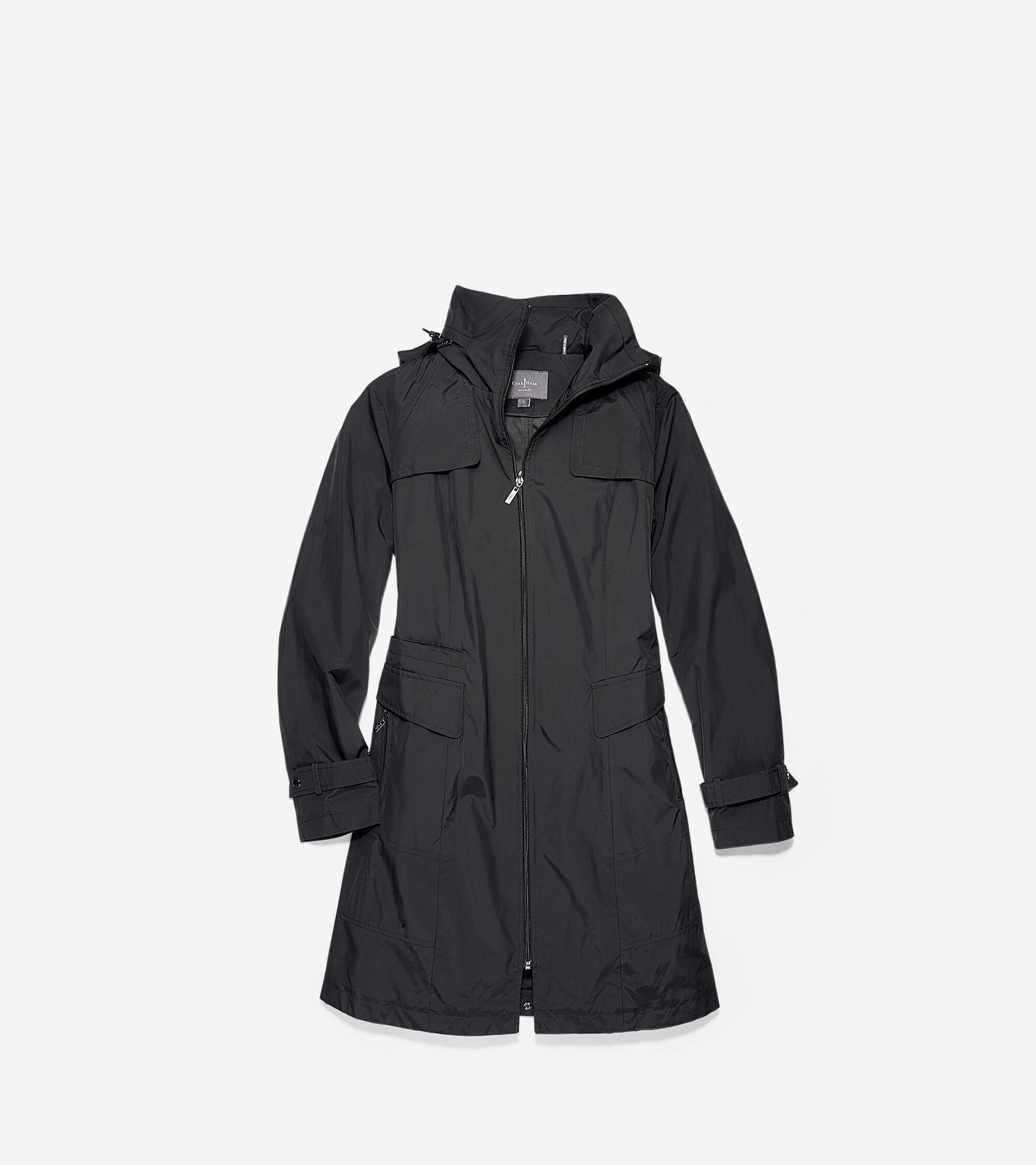Outerwear > Packable Nylon Single Breasted Coat