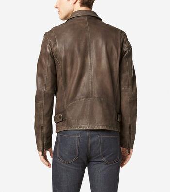 Matte Leather Rider Jacket