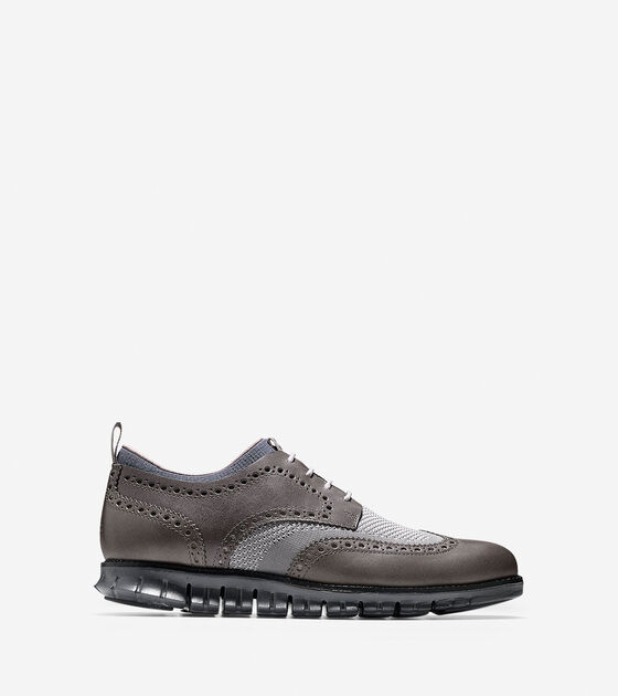 Shoes > ZERØGRAND Short Wingtip Oxford