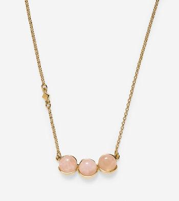 Triple Semi-Precious Stone Pendant Necklace