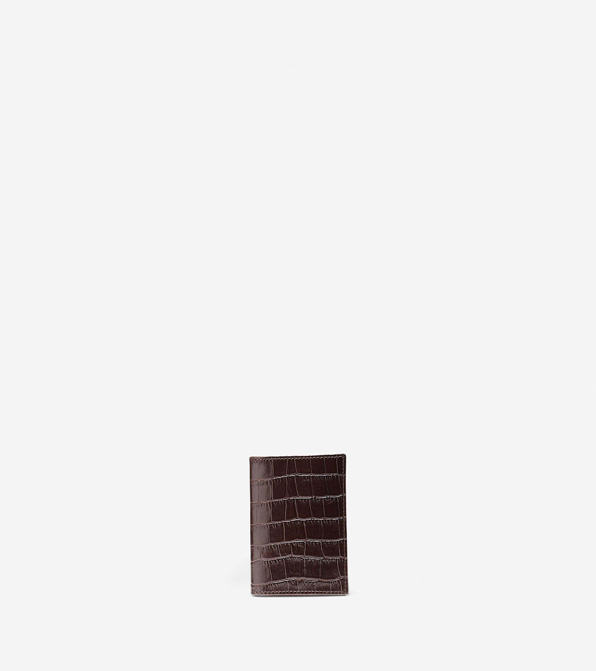 Accessories > Embossed Croc Gusseted Card Case