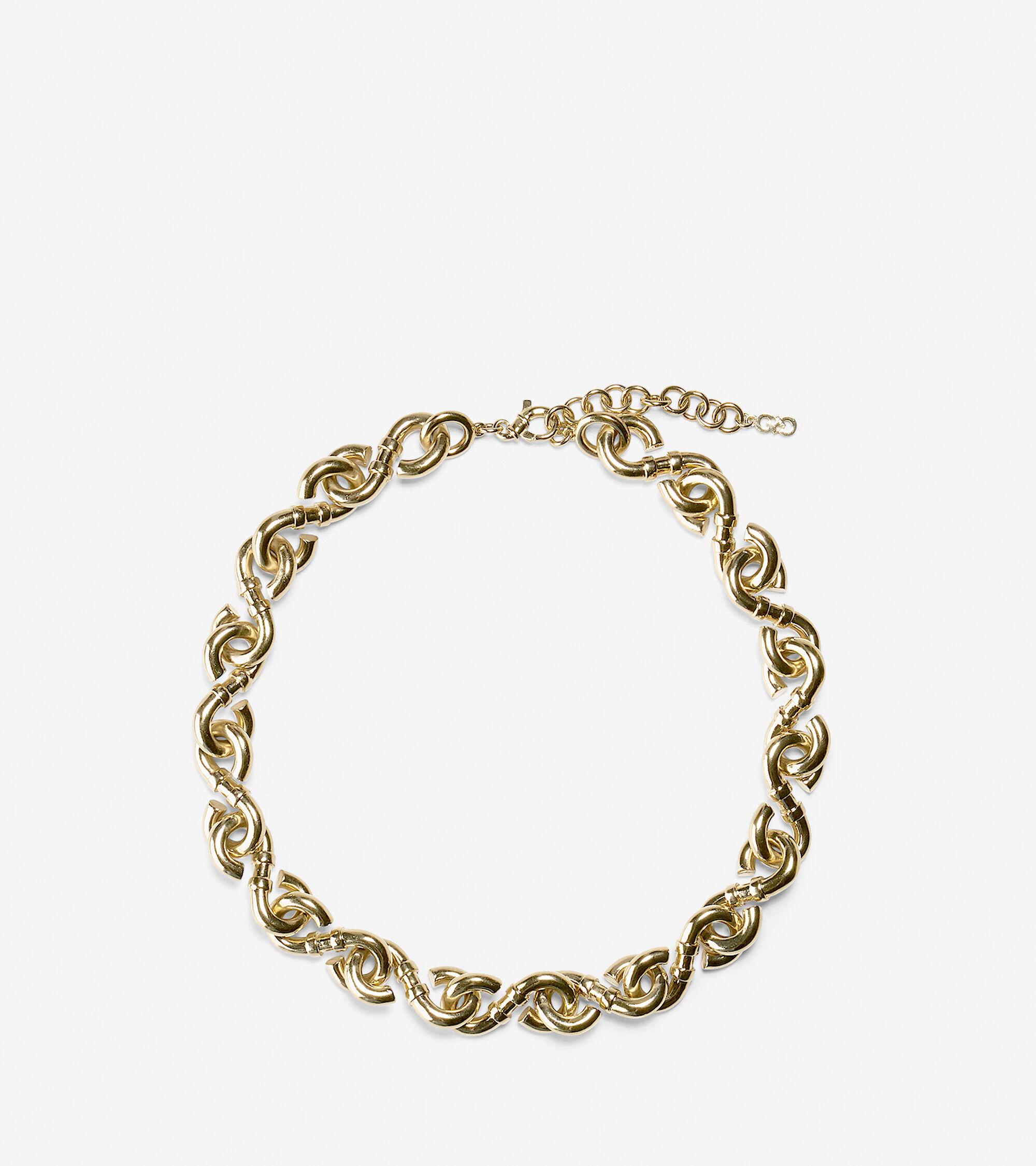 Accessories > Metal Logo Link Necklace