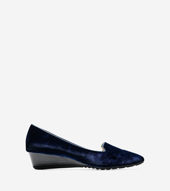 Shoes > Tali Luxe Smoking Slipper Wedge (40mm)
