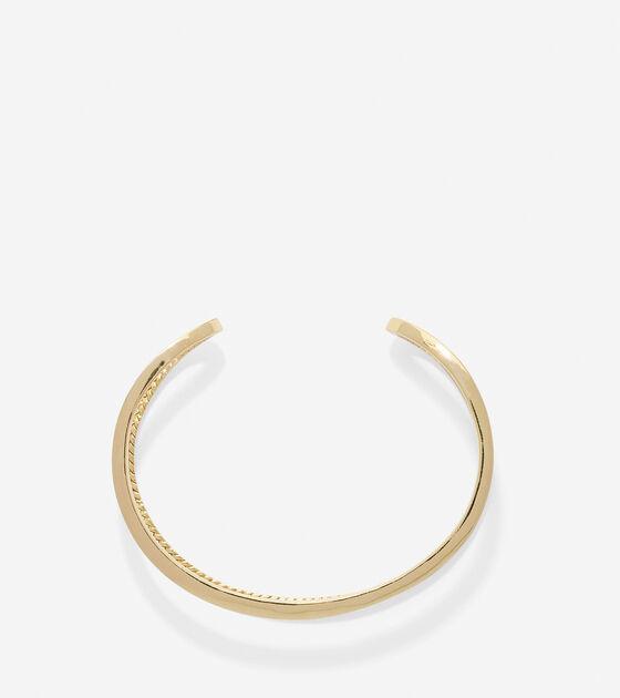 Geometric Open Cuff Bracelet