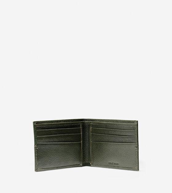 Pebbled Leather Slim Billfold Wallet
