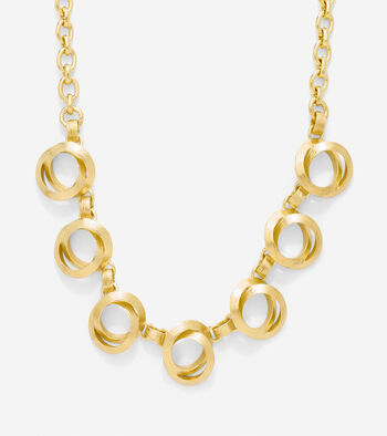 Double Circle Frontal Necklace