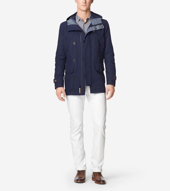 Outerwear > Cotton Twill Hooded Jacket