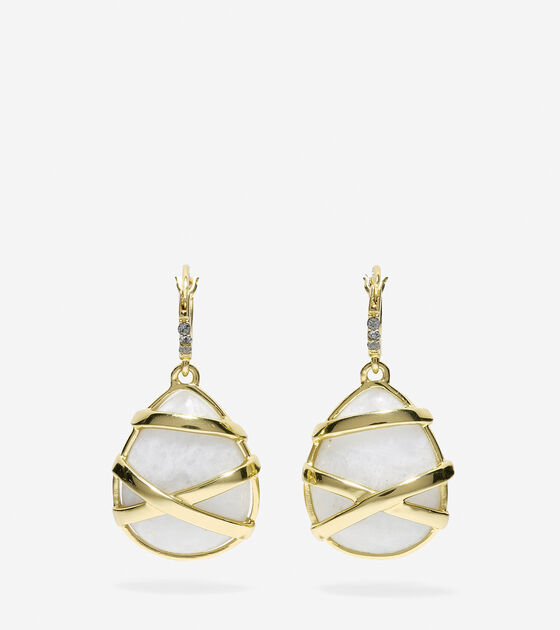 Bags & Outerwear > To The Moon Wrapped Semi-Precious Moonstone Drop Earrings