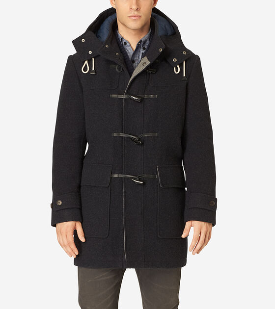 Outerwear > Boiled Wool Toggle Duffle Coat