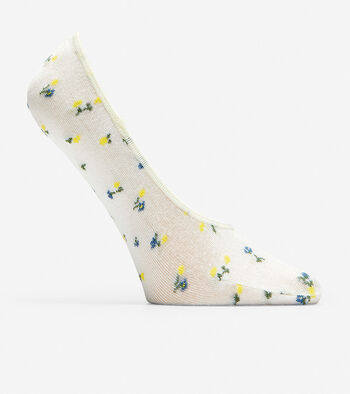 Floral No-Show Socks - 2 Pack