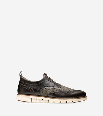 Men's ZERØGRAND Neoprene Lined Wingtip Oxford