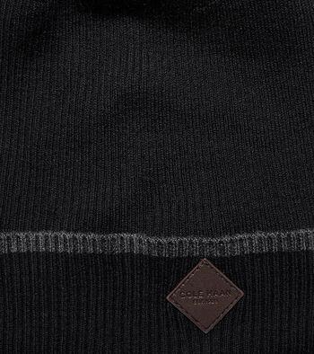 Cashmere Blend Tipped Rib Cuff Hat