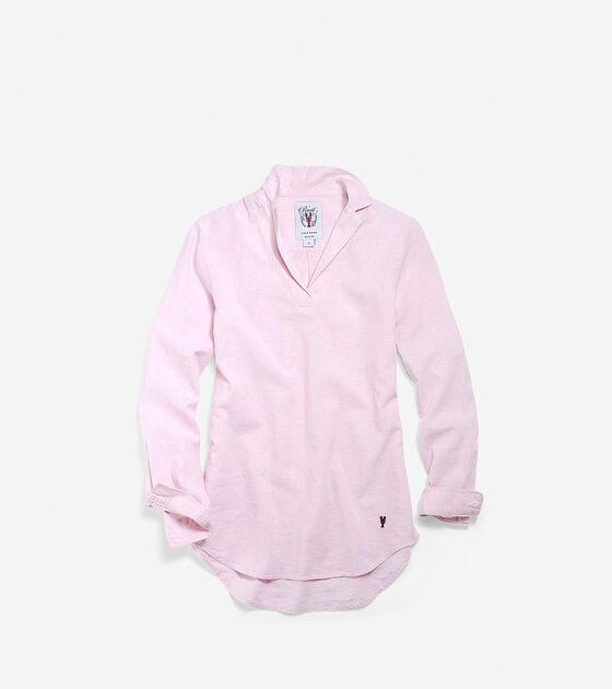 Apparel > Women's Pinch Long Sleeve Linen Popover Shirt
