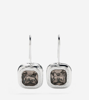 Square Swarovski Drop Earring