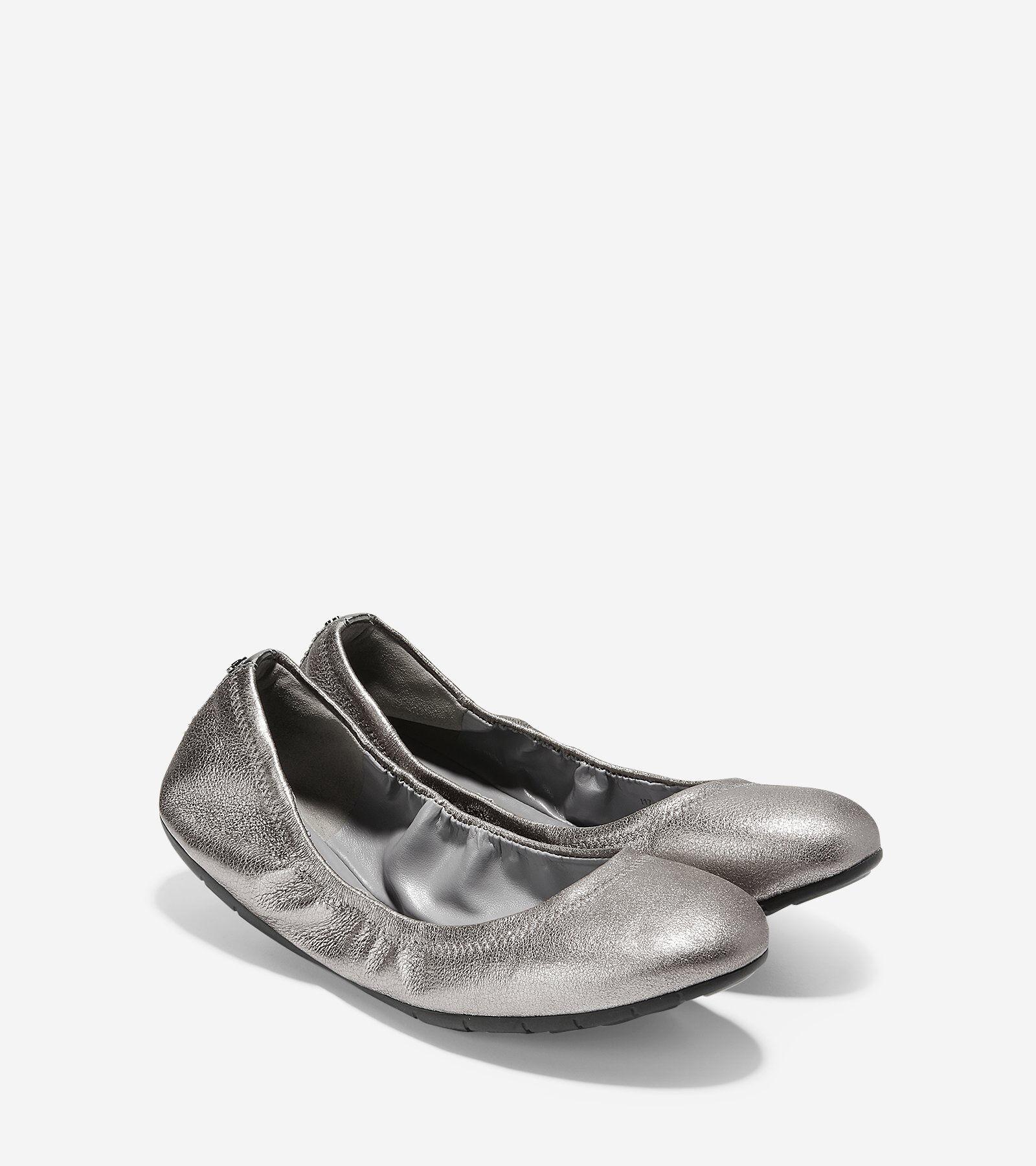 Womens Zerogrand Ballet Flat 7.5 Gunmetal Shimmer Cole Haan Online-Verkauf Online dgBpvAS