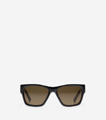 Modern Acetate Rectangle Sunglasses