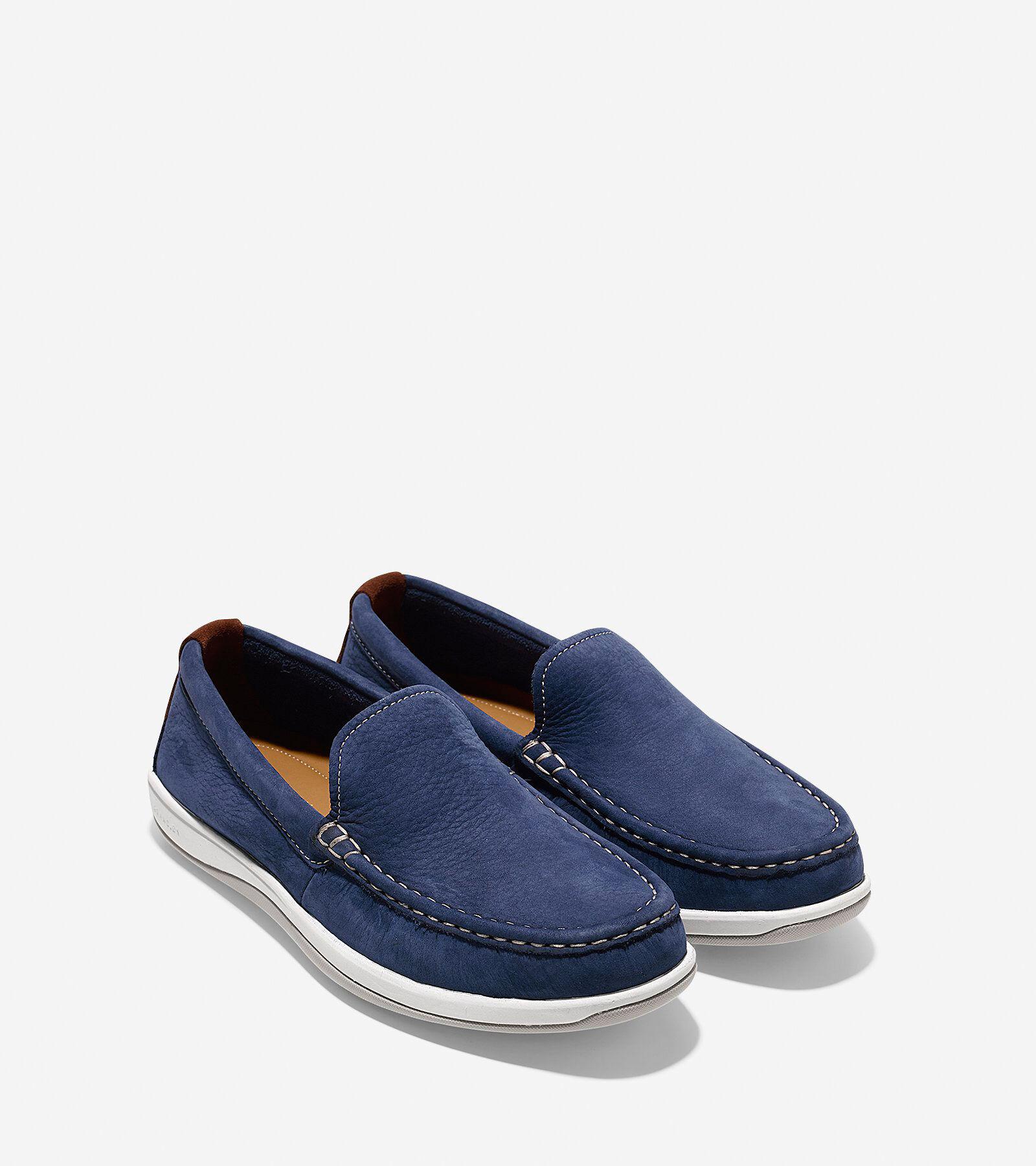 Cole Haan Boothbay Slip-On Loafer Marine Blue Nubuck Men