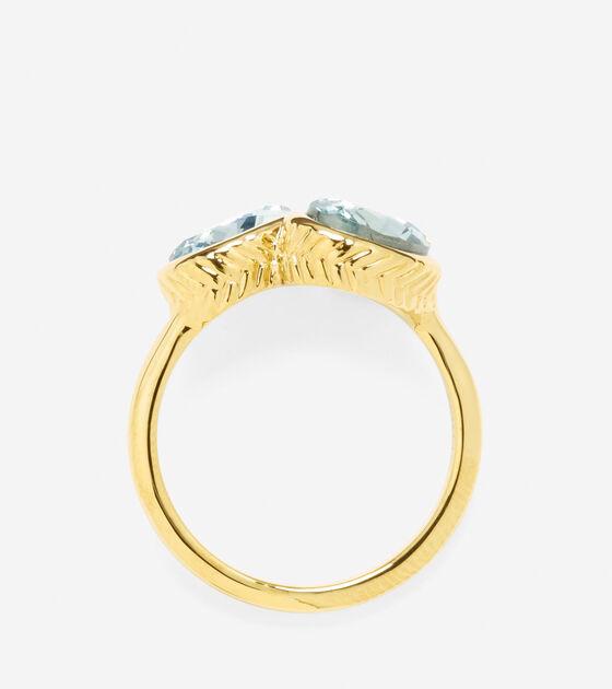 Double Swarovski Stone Ring