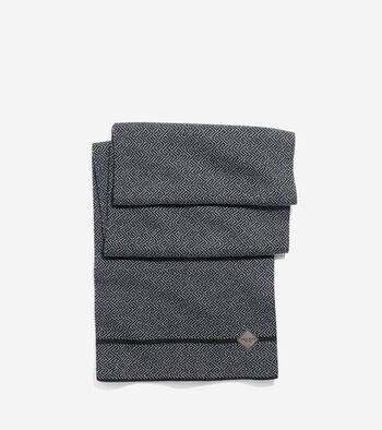 Fine Pattern Jacquard Knit Muffler