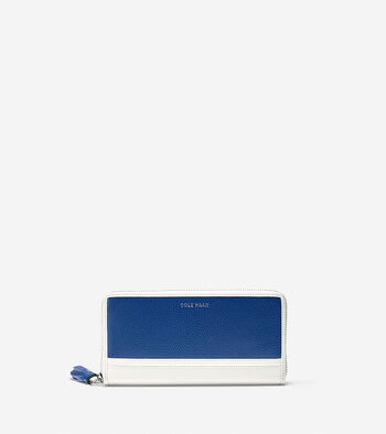 Reiley Tassel Continental Zip Wallet